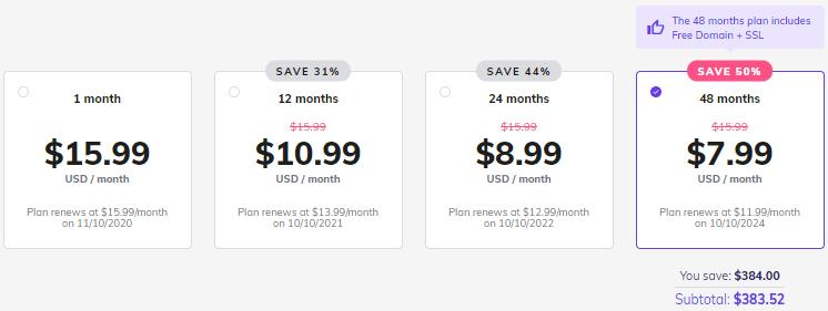 Hostinger business WordPress Hosting plan