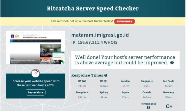 Hostinger server response test