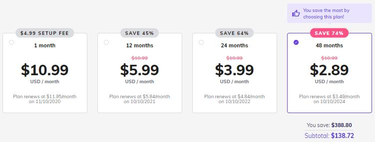 Hostinger Premium Shared Hosting plan