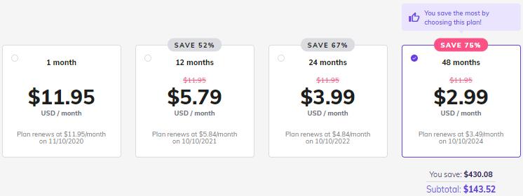 Hostinger WordPress starter hosting plan