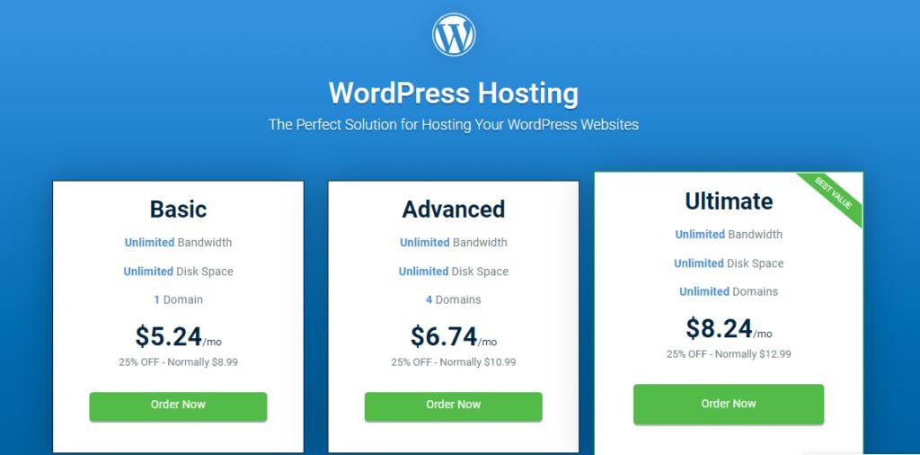 Hostwind WordPress hosting