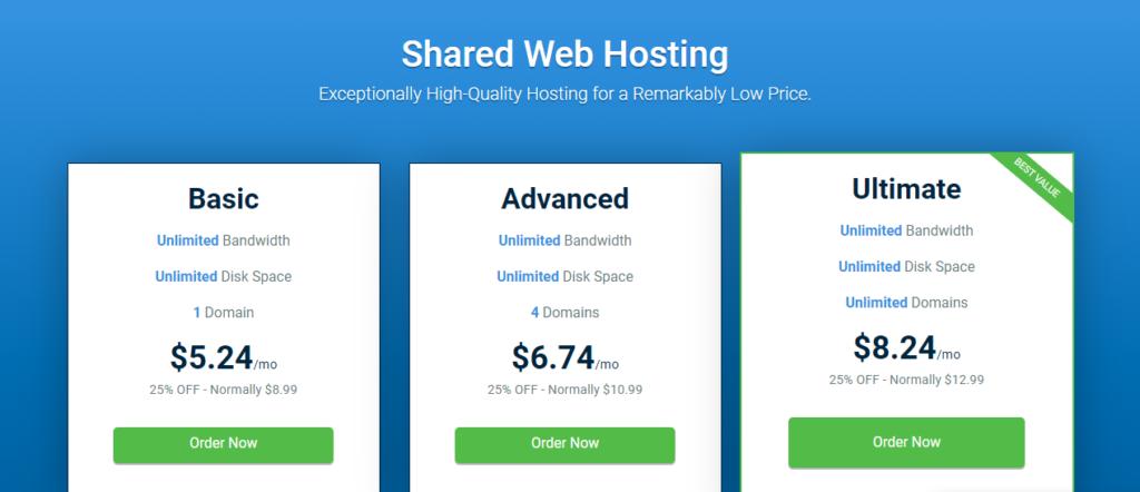 Hostwinds shared hosting