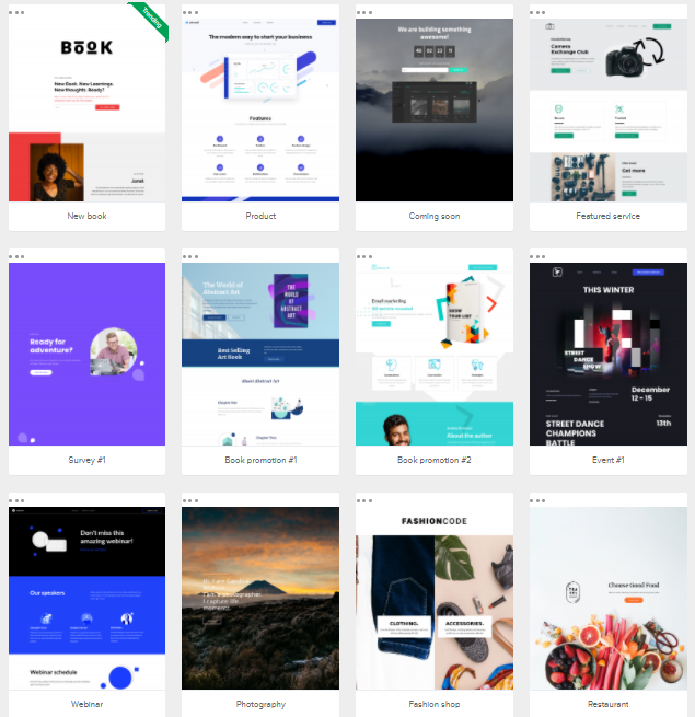 landing page and website templates